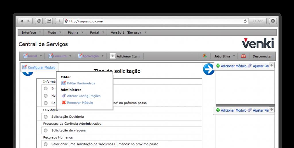 Criação do portal de processos